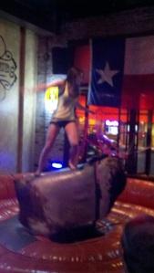 Mechanical bull in an Austin bar